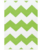 RugStudio presents Dash And Albert Chevron 81765 White / Apple Woven Area Rug